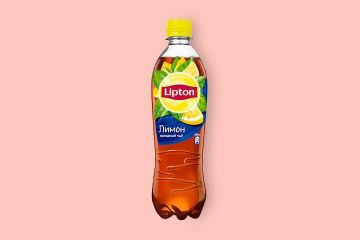 Чай Липтон черный с лимоном 0,5 л